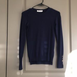 Zara Navy Sweater with Gold Details